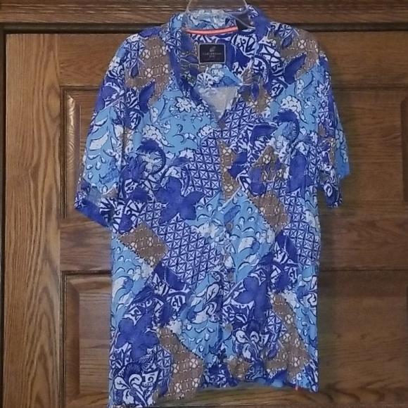 Mens Caribbean Joe button down shirt Lg